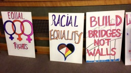Signs made at the RI WMW Chapter meeting.