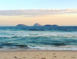 @Goodgrateful: View of small islands off of Ipanema Beach in Rio de Janeiro.