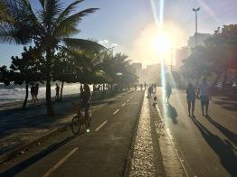 The Ipanema Beach boardwalk.